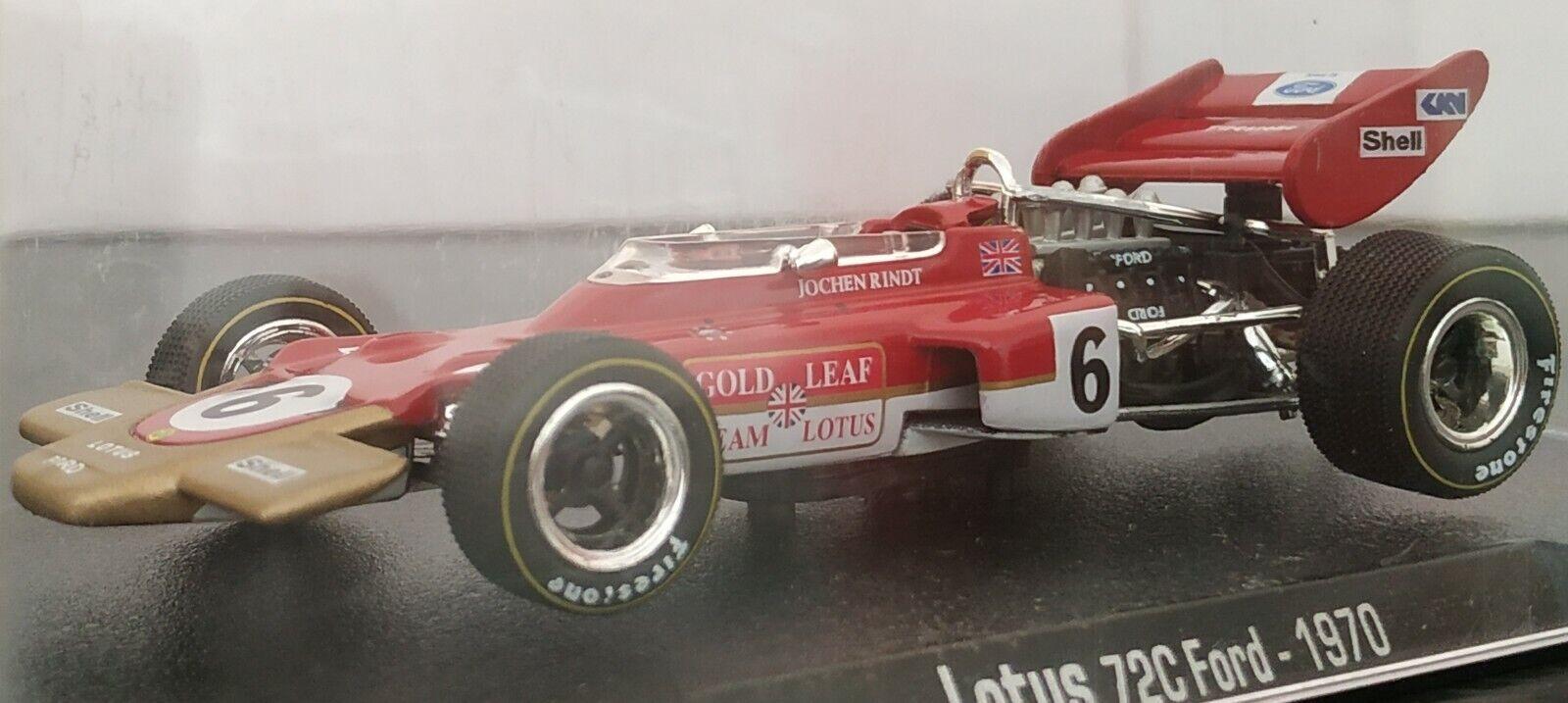1 43 LOTUS 72C FORD 1970 Jochen Rindt F1 FORMULA 1 COCHE DE METAL A ESCALA