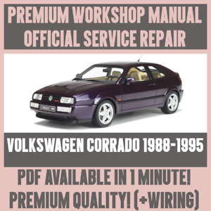 workshop manual service repair guide for volkswagen corrado 1988 rh ebay ie Volkswagen Scirocco Volkswagen Karmann Ghia