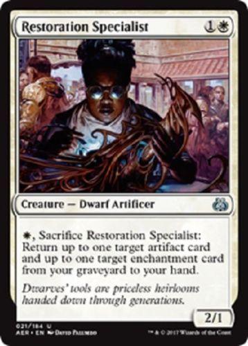 Restoration Specialist NM X4 Aether Revolt White Uncommon MTG
