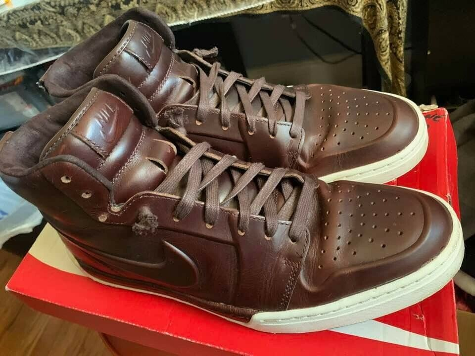 RARE Leather Nike Air Royal Mid VT Mens SIZE 9 Baroque Brown Baroque Brown