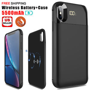 free shipping 38dc8 62678 For iPhone XS Max/XR/X Qi Wireless Charging Battery Case Power Bank ...