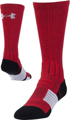 Under Armour Adult Unrivaled Crew Socks 1 Pair LARGE Size Adult Red Brand new