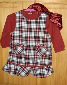 9b088849b6ff6 GYMBOREE CHRISTMAS HOLIDAY DRESS RED PLAID 6-12 MONTH INFANT 3 PIECE ...