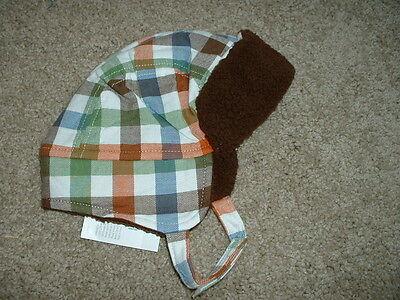 Gymboree Hat 0-3 months Baby Boys Size Fox Fella Ear Flap Sherpa mos NWT NEW