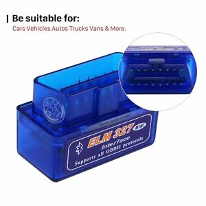 Mini Elm327 V2.1 Obd2 II Bluetooth Auto Car Diagnostic Interface Scanner Android