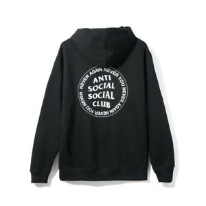 0d52d7a67fa0 Details about 100% Authentic Anti Social Social Club ASSC Never Again Never You  Hoodie Black