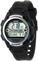 Casio Mens Referee Timer World Time Resin Band Watch W-756-1av