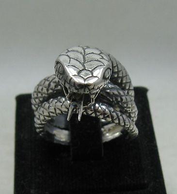 Sterling Silver Ring Genuine Solid Hallmarked 925 Huge Spiral Handmade Empress