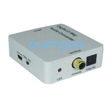 D01 DCT 2 Richtung Coaxial Toslink Audio Konverter Wandler WConverter Adapter