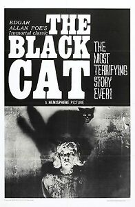 THE BLACK CAT Movie Poster 1966 Edgar Allan Poe Horror Classic