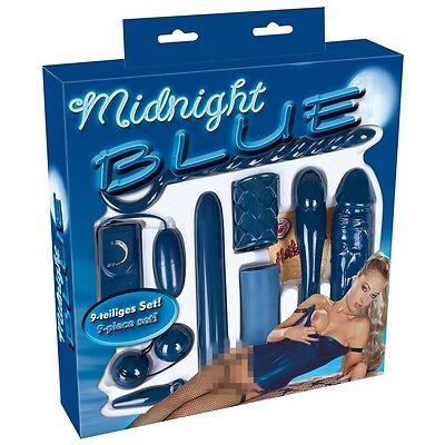 Sextoy-Set Midnight Blue Vibrator-Dildo-Sextoy Buttplug Liebeskugel Cockring #23