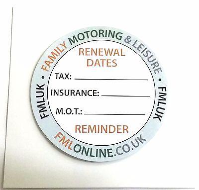 New Car Vehicle Windscreen TAX M.O.T Insurance Reminder Twin Pack Gadget x 2