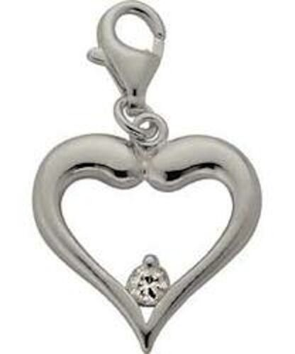 CLEARANCE*Source*925 Sterling Silver*Heart Clip Charm Bracelet*RRP 12.99