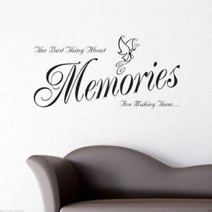 Recuerdos-ADHESIVO-PARED-SALoN-HABITACIoN-Pegatina-Adhesiva-Mural-frase-wsd517