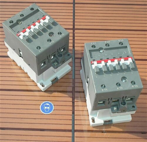 SdfkPlakette /_/_/_ /_ Schütz Leistungsschütz 230V Volt AC 3S 400V 30kW ABB A63-30