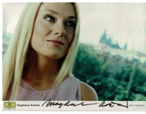 Original-Autogramm auf Großfoto - Magdalena Kozena - Oper Klassik Gesang Bühne