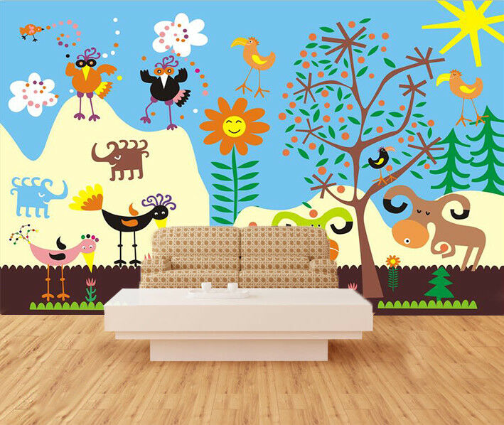 3D Painted Animals 743 Wall Paper Murals Wall Print Wall Wallpaper Mural AU Kyra