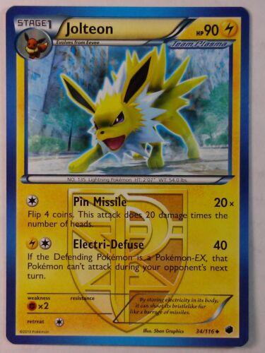 Jolteon 34//116  B/&W Plasma Freeze   Uncommon   Mint//NM Pokemon