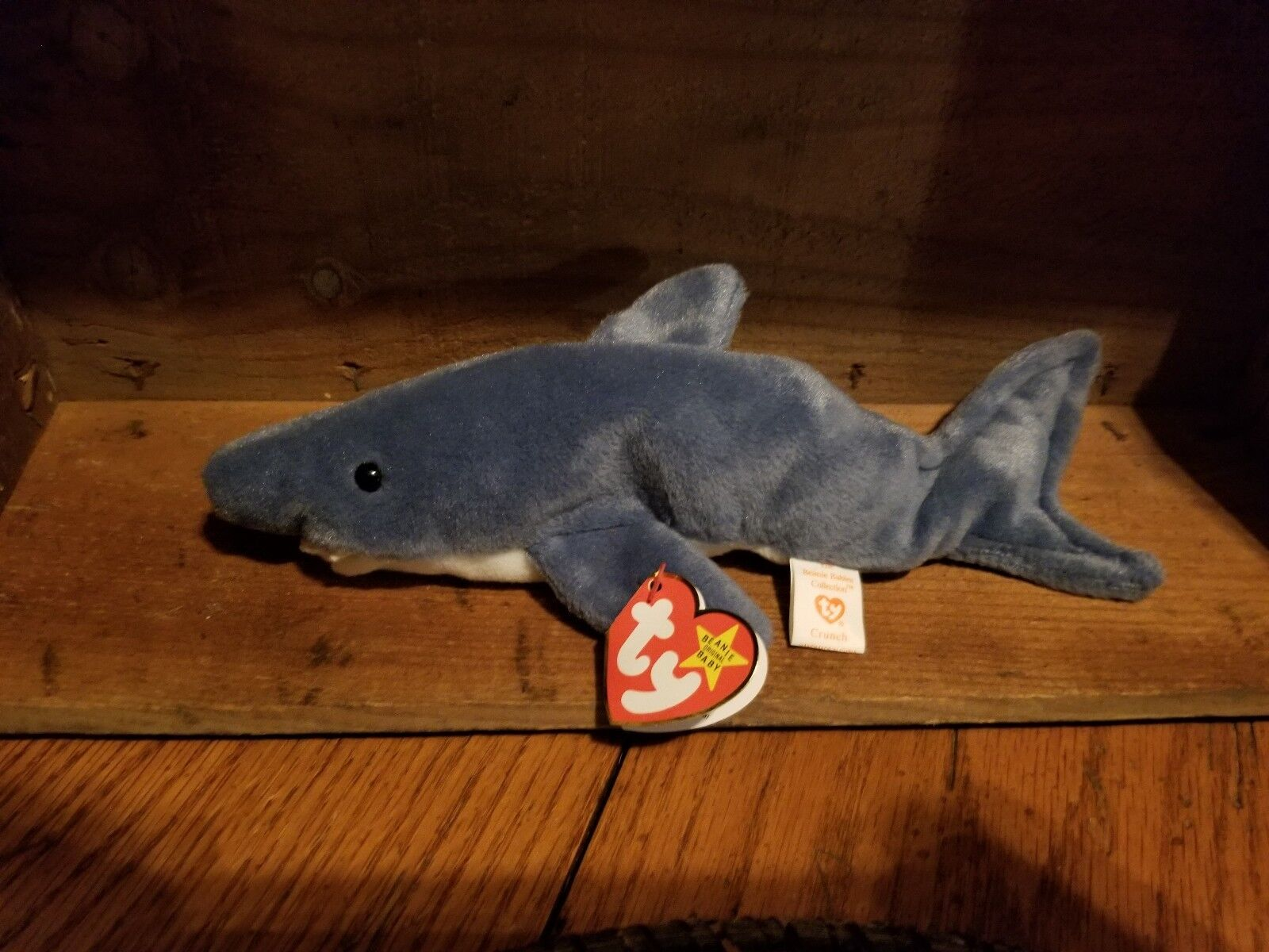 Ty Beanie Baby 1996 Crunch Shark PVC (NO STAR  Waterlooville) Errors