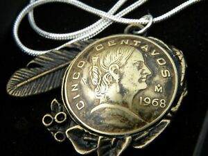 Authentic-Cinco-Centavos-coin-various-date-necklace-with-18-inch-chain-nice-gift