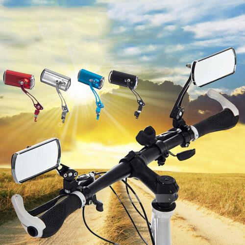 2x Flexible Aluminum Bike Rear View Mirror Mountain Bicycle Rearview Handlebar