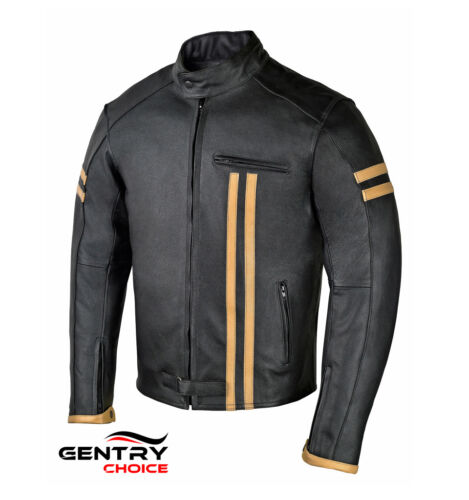 Black With Gear Armours Jacket Biker Leather Rider Men's Motorcycle IwxH0qRPP
