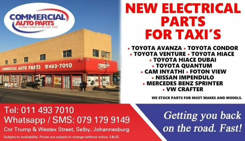 Electrical Parts and Spares For Most Taxi Makes and Models For Sale