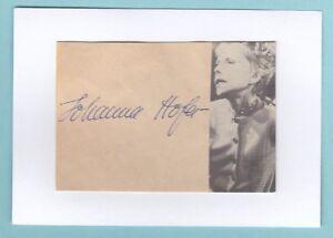 Sammeln & Seltenes Hofer Johanna 4-1/4084 Reinweiß Und LichtdurchläSsig Autogramme & Autographen