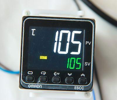 Digital PID Controller Kit,includes Omron E5CC,Fotek SSR+Alu.HeatSink,K type TC