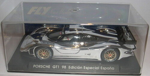 FLY E-73 SLOT CAR PORSCHE GT1 98 CROMO ED.SPECIAL SPAIN LTED. ED. MB