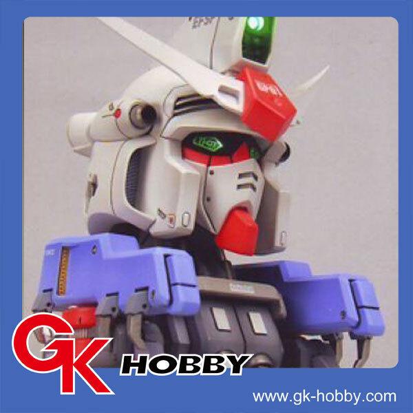 140 [Unpainted Resin]G-System Recast 1 35 GP01 Gundam Bust Head +Base+LED System