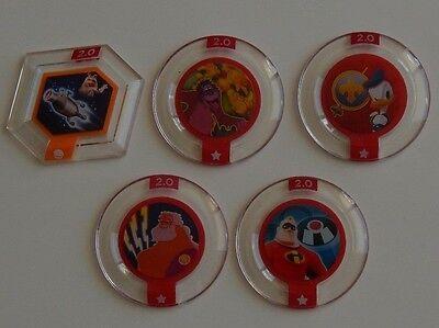 Disney Infinity 2.0 Originals 5 x Power Discs BRAND NEW Disc