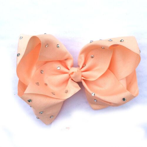6//8 In environ 20.32 cm large cheveux Bow Arc-en-Dance Moms filles accessoires enfants Clip Romani