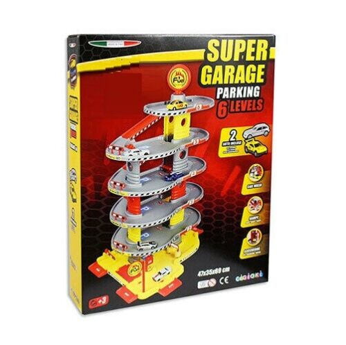 UNO-GIOCHI-SUPER-GARAGE-PARKING-6-LIVELLI-AGIP-CON-2-AUTO-INCLUSE