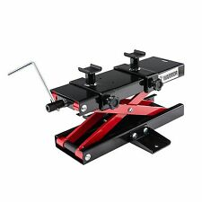 Warrior Motorcycle / Motorbike Scissor Lift Stand Black / Red - 500kg Capacity