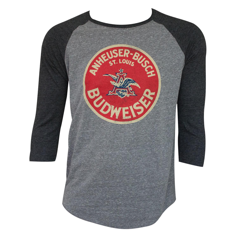 Budweiser Vintage Round Logo Raglan Shirt