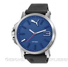 Puma reloj hombre ultrasize 50 Silver Blue pu 103461014 silicona Band