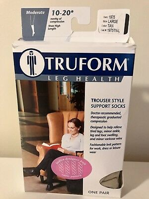 New Truform Trouser Style Support Socks 10-20mmhg Large Be Shrewd In Money Matters Tan