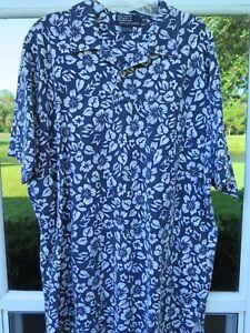 Ralph-Lauren-Men-039-s-Short-Sleeve-Cotton-Blue-Floral-Pullover-Pocket-Polo-Shirt-XL