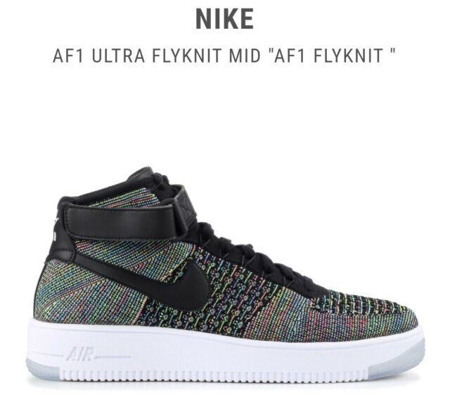 release date 6aa12 53fcf Nike Air Force 1 Ultra Flyknit Mid Mens Size 11.5 Multi Color Af1 817420 601