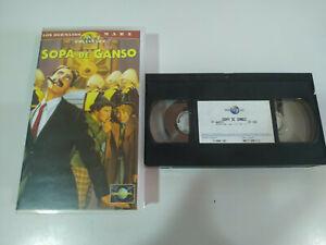 LOS-HERMANOS-MARX-SOPA-DE-GANSO-GROUCHO-CHICO-HARPO-VHS-Cinta-Castellano