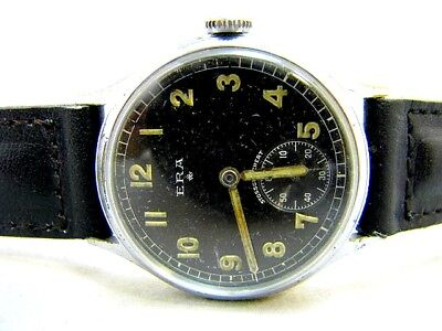 Ww2 Era Dienstuhr Armbanduhr Adolph Schild Wehrmachtswerk As 1130 Junghans 40er