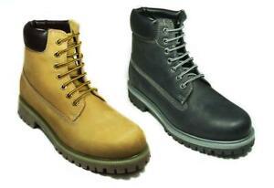 NEU Grinders Stiefel Schuhe Herren Brixton PREMIUM classic 6 Inch Leder Boots Schwarz Black 43