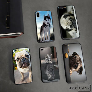Funny-Animals-Pet-Dog-Pug-Silicone-TPU-Phone-Case-Cover-For-iPhone-X-6s-7-8-Plus
