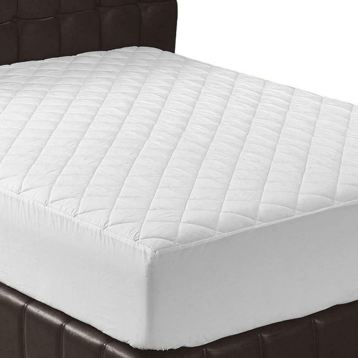 Queen Size Mattress Pad Soft Plush Fitted Pillow Top Bed