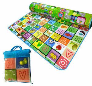 Extra-Grande-2-lado-educativo-de-Espuma-Suave-Bebe-Ninos-del-nino-piso-Play-Mat-gatear