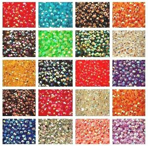 1000-Rhinestones-Crystal-AB-Flat-Back-Resin-Diamante-Gems-Crafts-Nail-Art