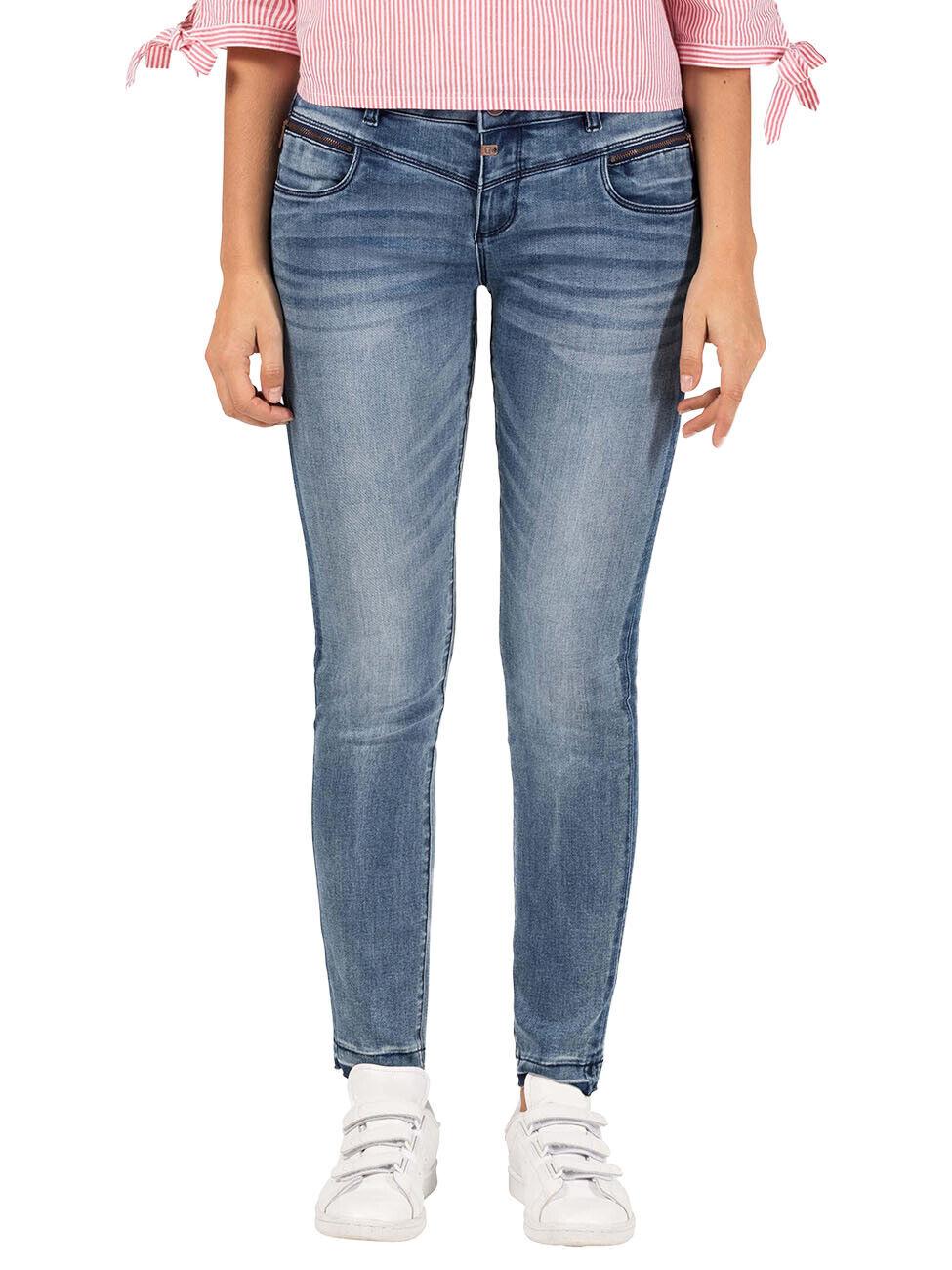 Timezone Damen Jeans Sade - Slim Fit - Blau - Shades of Blau Wash
