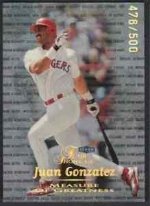 1999-FLEER-FLAIR-SHOWCASE-MEASURE-GREATNESS-JUAN-GONZALEZ-478-500-TEXAS-RANGERS