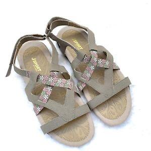 dac15455168 Jambu J Sport Womens Woodland Sandals Sz 8 Taupe Vegan Stewpot ...